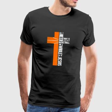 All i need today is a little bit Ball and Jesus! - Männer Premium T-Shirt
