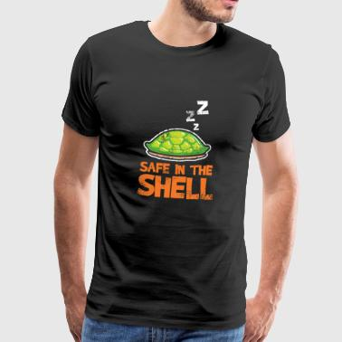 Safe in the shell shell turtle - Men's Premium T-Shirt
