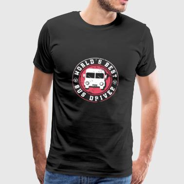 Best Gift Gift Family World's Best Bus Driver - Mannen Premium T-shirt