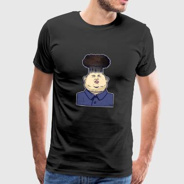 Kim Jong Un politician satire cartoon nuclear bomb - Men's Premium T-Shirt