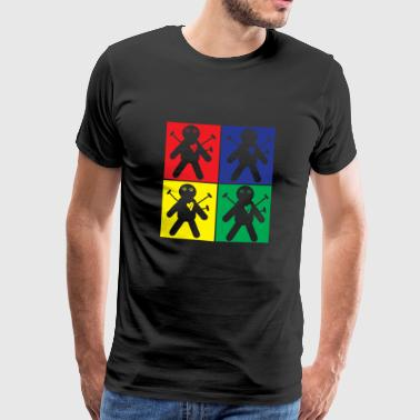 Pop Art Voodoo-pop - Mannen Premium T-shirt
