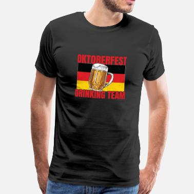 Shining Oktoberfest drinking team - Men's Premium T-Shirt