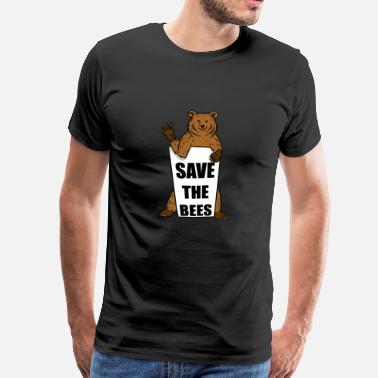 Grizzly Save The Bees Grizzly Bear - Men's Premium T-Shirt
