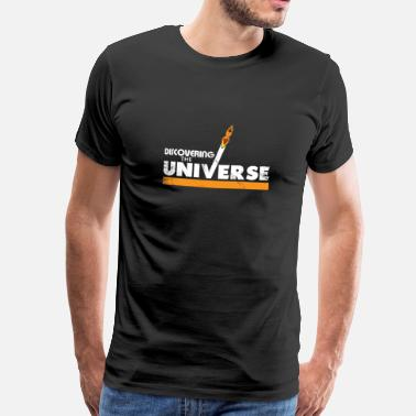 Hipster Universe Discover the universe gift kids rocket - Men's Premium T-Shirt