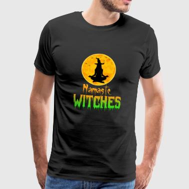 Halloween Yoga Shirt Namaste Witches Cool funny - Men's Premium T-Shirt