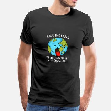 Earth Regalo de Chocolate Fans Lover Chocolate World - Camiseta premium hombre