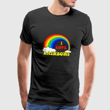 I love rainbow gift kids christmas - Men's Premium T-Shirt