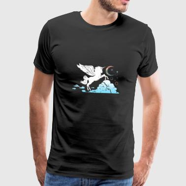 Unicorn above the clouds Gift children girl - Men's Premium T-Shirt