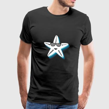 Starfish with sunglasses Cool gift kids - Men's Premium T-Shirt