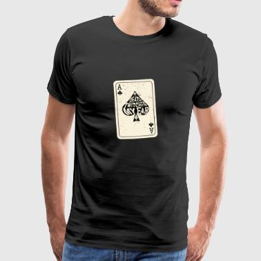 Ace Of Spades Death Twitches My Ear Ace of Spades Speelkaart - Mannen Premium T-shirt