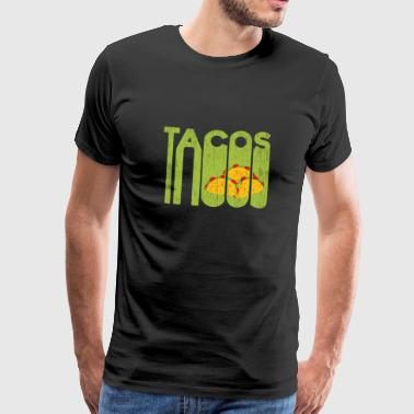Mexico Taco Fast Food Christmas Gift Sombrero - Herre premium T-shirt