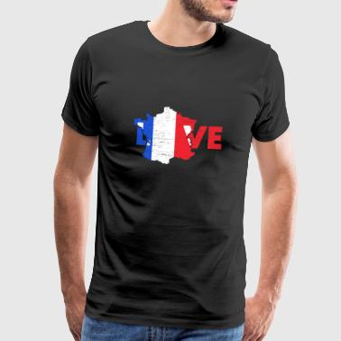 Cheese Love France gift Christmas trip - Men's Premium T-Shirt