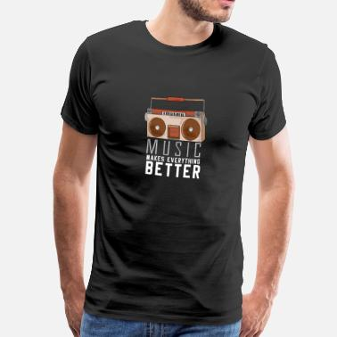 Beatbox Music Happy Cassette Gift Speaker MC - Camiseta premium hombre