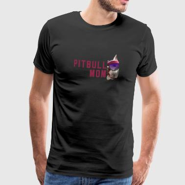 Stafford Pitbull Dogs Mistress Gift Fighting Dog Mom Pit - Herre premium T-shirt