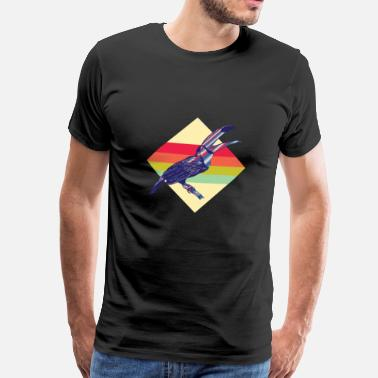 Toucan Colorful retro toucans - Men's Premium T-Shirt