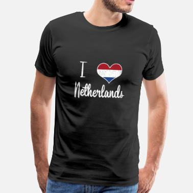 Holland I love the Netherlands gift Christmas - Men's Premium T-Shirt