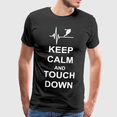 Football Keep Calm and Touch Down - Männer Premium T-Shirt