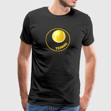 Tennis - tennis Circle - Tennis Ball - Premium T-skjorte for menn