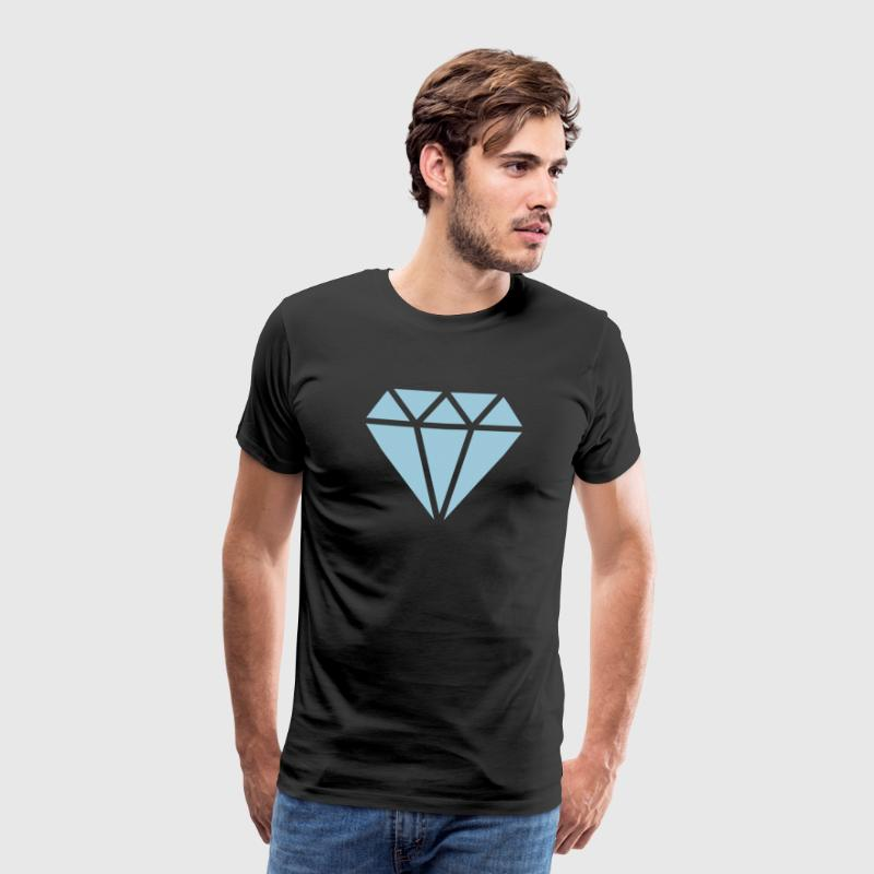 Diamante, triángulo, symbolo, diamond, for ever - Camiseta premium hombre
