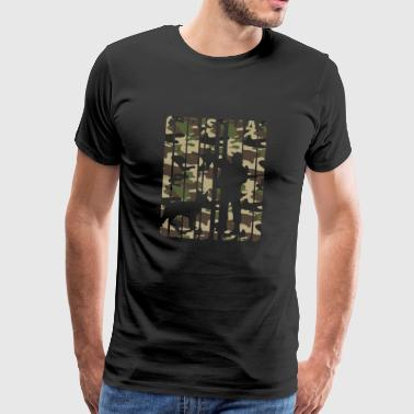 Vintage Christmas Vintage Retro Christmas Gifts for Hunters.Hunting - Men's Premium T-Shirt