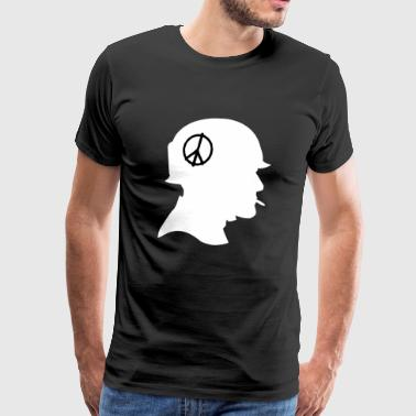 Soldier with peace sign - Men's Premium T-Shirt