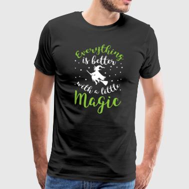 Hocus-pocus Halloween Shirt Everything Is Better With A Little Magic Gift - Men's Premium T-Shirt