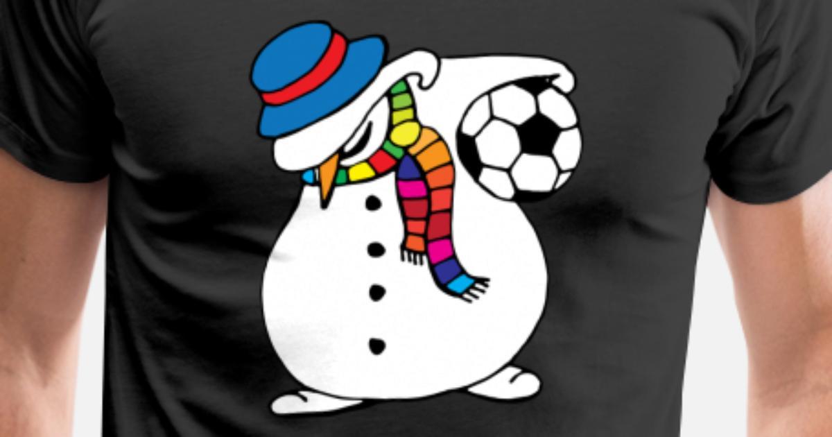 Weihnachtsschneemann tupfen Tanz-Fußball von LSRclothing | Spreadshirt