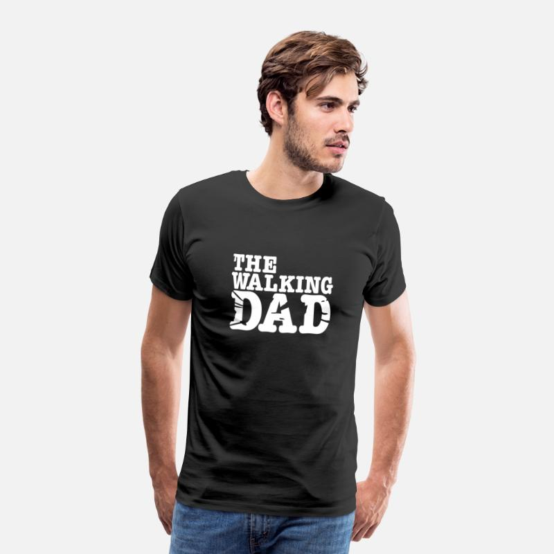 Baby T-Shirts - the walking dad - Mannen premium T-shirt zwart