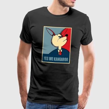 Yes We Can Yes we can - Yes we Kangaroo T-shirts - Mannen Premium T-shirt