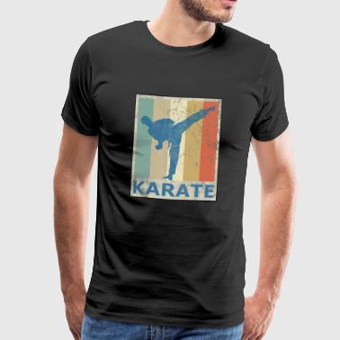 Retro Vintage Style Karate Martial Arts - Men's Premium T-Shirt