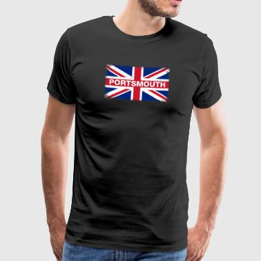 Portsmouth Shirt Vintage United Kingdom Flagge - Männer Premium T-Shirt