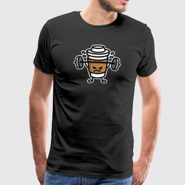Strong coffee - lift workout - Männer Premium T-Shirt
