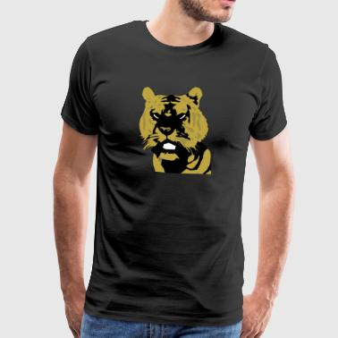 Tiger Comic Tiger Kopf Design comic - Männer Premium T-Shirt