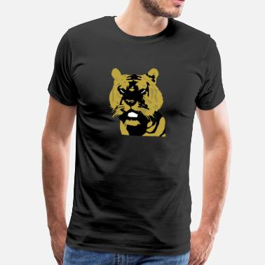 Comic Tiger Tiger Kopf Design comic - Männer Premium T-Shirt