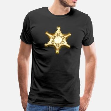 Wilde Westen Gold Sheriff Star, Wild West America, Chief, Boss - Mannen Premium T-shirt