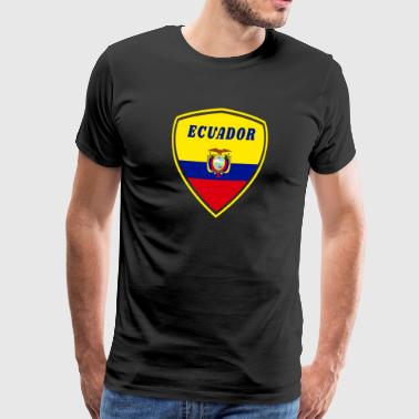 Nationalfärger Ecuador vapensköld / gåva South America Flag State - Premium-T-shirt herr