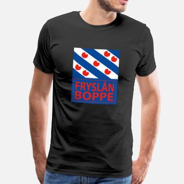 Friese Tekst Leuk t-shirt met Friese vlag - Mannen Premium T-shirt