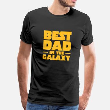 Dad Best Dad In The Galaxy - Koszulka męska Premium