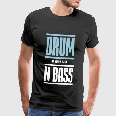 Drum and Bass Techno Music DJ - Men's Premium T-Shirt