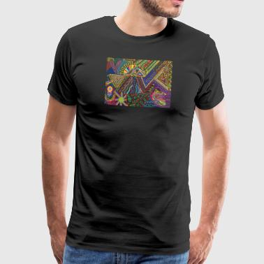 Psychedelic Art PowerLines 32 - Men's Premium T-Shirt