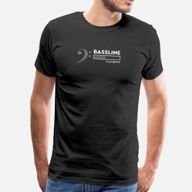 Bassline bassist shirt, Bassline in progress - Premium-T-shirt herr