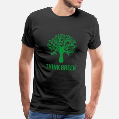 Ambiente Terra Earth Day / Giorno: Think Green - Maglietta Premium da uomo