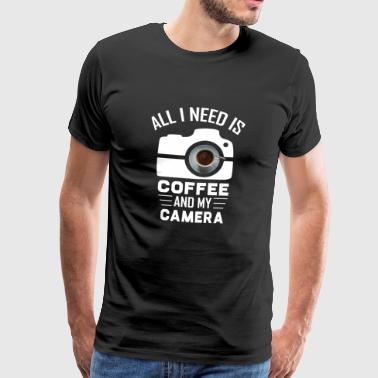 Coffe and Camera - Photographe cadeau photo - T-shirt Premium Homme