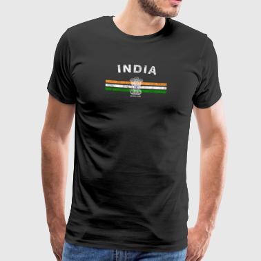 Indische Flagge Shirt - Indian Emblem & India Flag Shi - Männer Premium T-Shirt