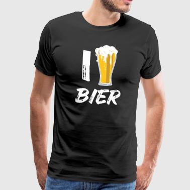 I love beer. Party drinking Mallorca vacation - Men's Premium T-Shirt