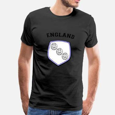 Three Lions ENGLAND Three lions 3 lion heads shield - Men's Premium T-Shirt