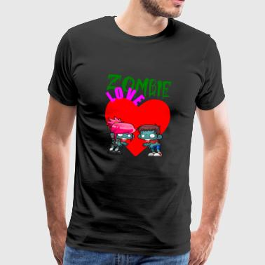 zombie love - Men's Premium T-Shirt