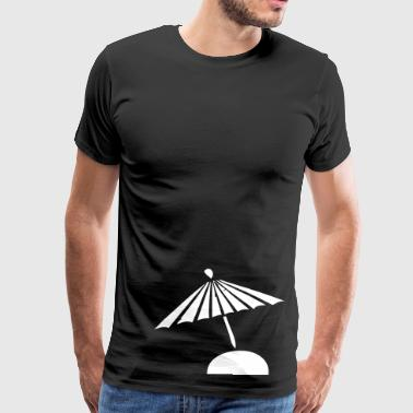 Sunshade sun umbrella summer sunburn - Men's Premium T-Shirt