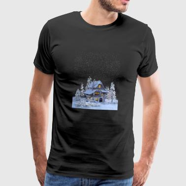winter cottage - Men's Premium T-Shirt