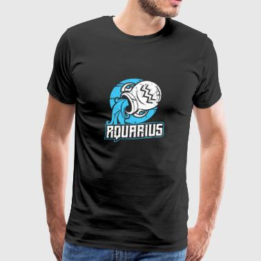 Zodiac sign zodiac sign Aquarius Astro - Men's Premium T-Shirt